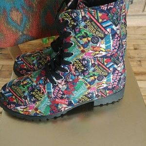 Marvel comics zip up boots
